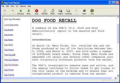 Dog Food Recall Dog Food 1.1 Screenshot