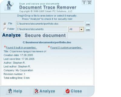 Document Trace Remover 3.3 Screenshot